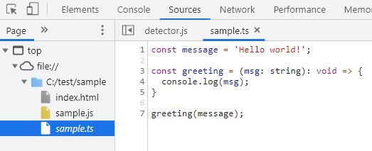 ブラウザで TypeScirpt のコードをデバッグできる
